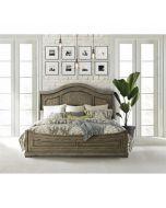 Riverside Louis Farmhouse Antique Oak Queen Panel Bed