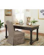 Riverside Regency  Matte Black Upholstered Slip Cover Chair