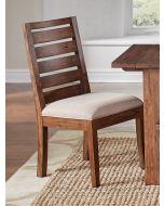 Anacortes Mahagony Upholstered Ladderback Dining Side Chair Set of 2