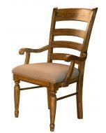 Bennett Ladderback Upholstered Dining Arm Chair Set of 2