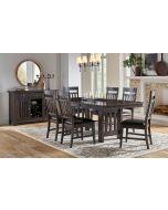 Bremerton Warm Gray Trestle Rectangular Dining Table