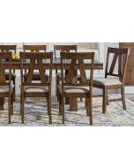 Eastwood Gunsmoke Gray Slatback Upholstered Dining Side Chair Set of 2