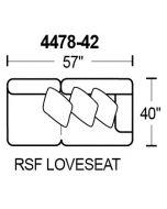 Middleton 4478-42 RSF Loveseat