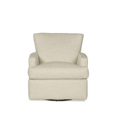 Lozzby Modern White Swivel Glider Chair