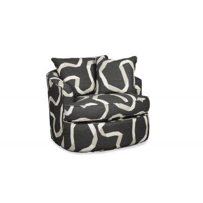 Styla Modern Grey Swivel Chair