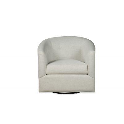 California Modern White Swivel Glider Chair