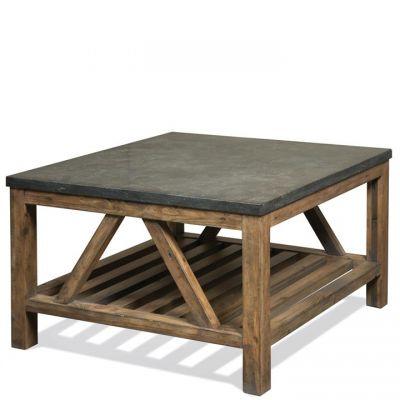Riverside Weatherford Bluestone Reclaimed Natural Pine Bunching Coffee Table