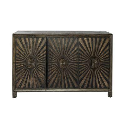 Liberty Furniture Three Door Wine Accent Cabinet