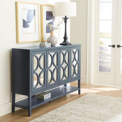 Liberty Furniture Blue Dusk Four Door Accent Cabinet