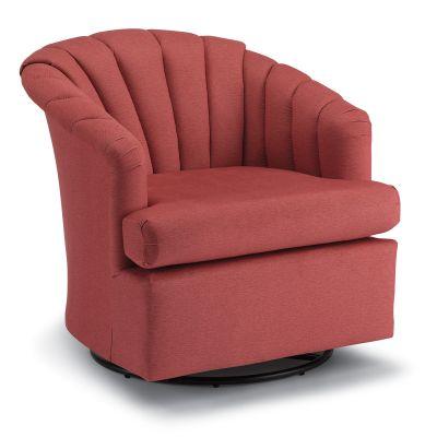 Elaine Swivel Glider Barrel Chair Bergenfield