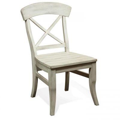 Riverside Regan Farmhouse white X Back Side Chair Set of 2