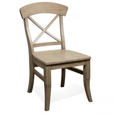 Riverside Regan Natural X Back Side Chair Set of 2