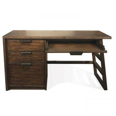 Riverside Perspectives Brushed Acacia Single Pedestal Desk