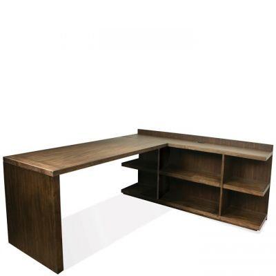 Riverside Perspectives Brushed Acacia L Shape Desk