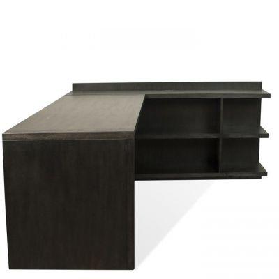 Riverside Perspectives Ebonized Acacia L Shape Desk