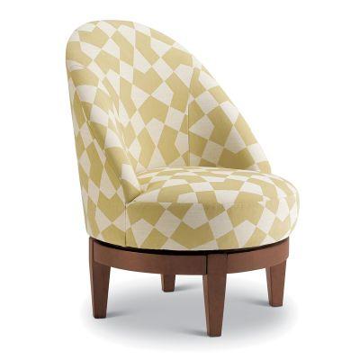 Loflin Swivel Barrel Chair Fair Lawn