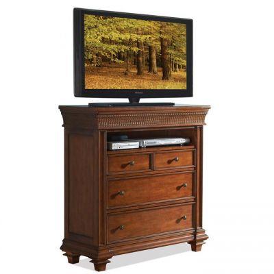 Riverside Furniture Windward Bay Warm Rum Media Chest