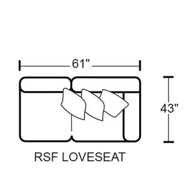 Denali 4378 RSF Loveseat