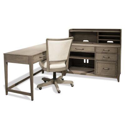 Vogue Gray Wash L Shape Desk
