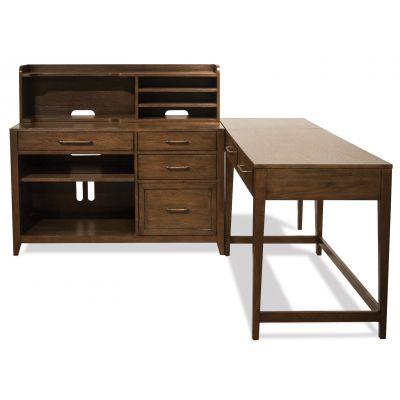 Riverside Vogue Brown Oak L Shape Desk