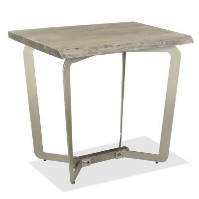 Riverside Waverly Sandblasted Gray Side Table
