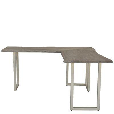 Riverside Waverly Sandblasted Gray L  Shape Desk