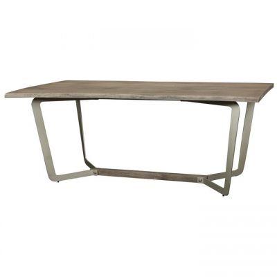 Riverside Waverly Sandblasted Gray Dining Table