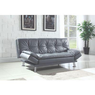 Dilleston Tufted Back Upholstered Sofa Bed Grey Glen Rock