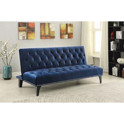Larissa Upholstered Sofa Bed Royal Blue Wallington