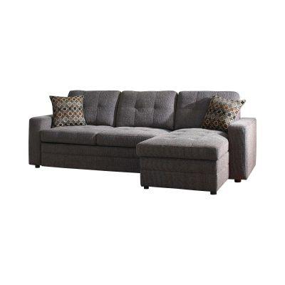 Gus Sleeper Sectional Sofa Charcoal Norwood