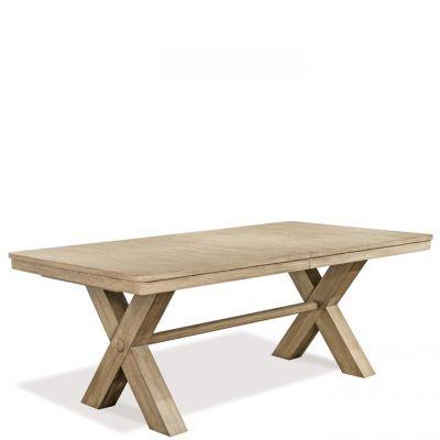 Riverside Sophie Natural Trestle Dining Table