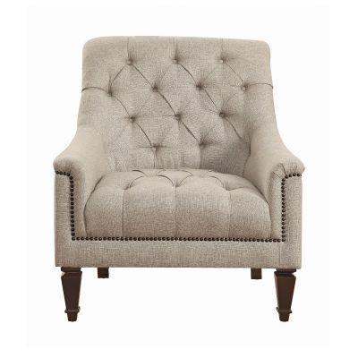 Avonlea Sloped Arm Upholstered Chair Grey Hackensack