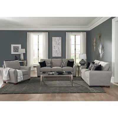 Trayton Flared Arm Upholstered Sofa in Warm Grey
