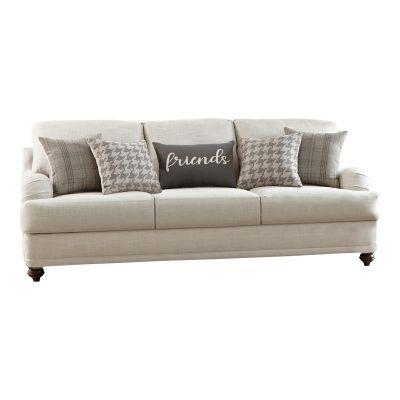 Lane Cushion Back Light Grey Three Seater Sofa Couch