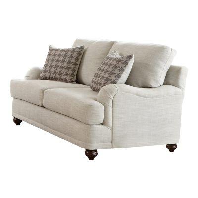 Lane Cushion Back Light Grey Two Seater Loveseat