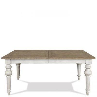 Riverside Southport Smokey White Antique Oak Dining Table