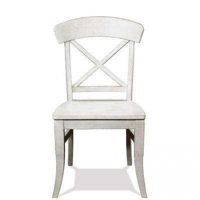 Riverside Southport Smokey White X-Back Side Chair