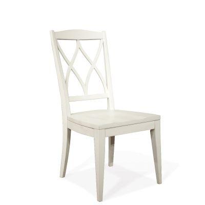 Riverside Myra XX Back Side Chair in Paperwhite Set of 2