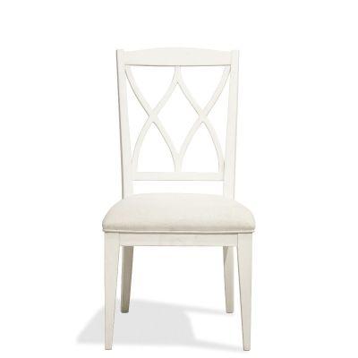 Riverside Myra XX Back Upholstered Side Chair in Paperwhite Set of 2