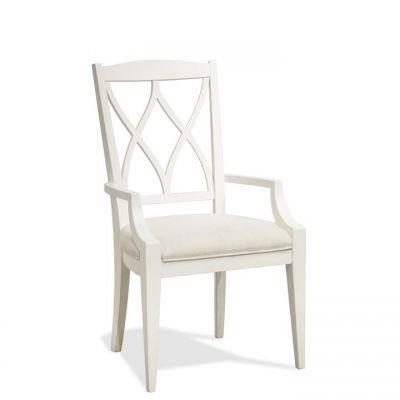 Riverside Myra XX Back Upholstered Arm Chair in Paperwhite Set of 2