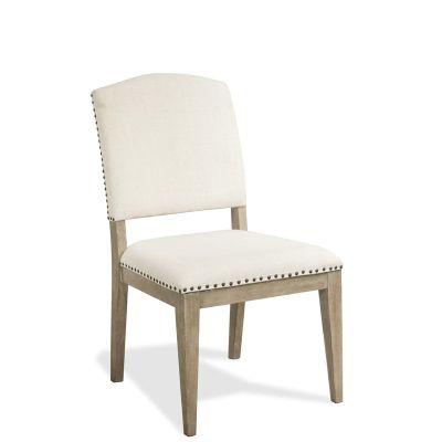 Riverside Myra Upholstered Side Chair in Natural Color Set of 2