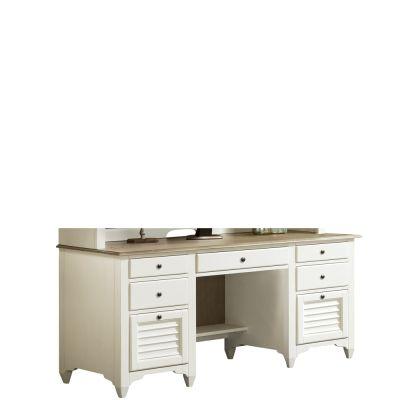 Riverside Myra Natural/Paperwhite Credenza Desk