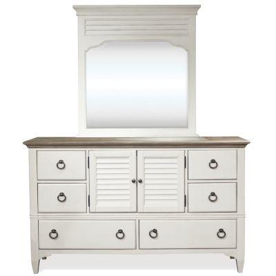 Riverside Myra Door Dresser in Paperwhite