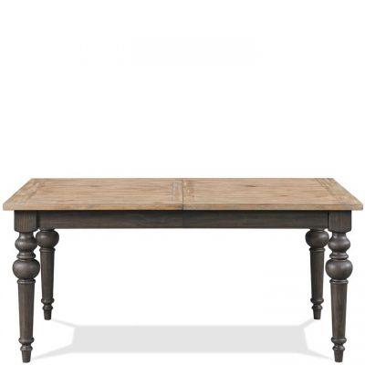 Riverside Harper Snowy Desert And Matte Black Rectangular Dining Table