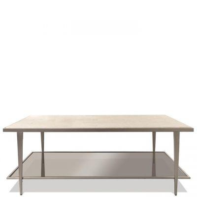 Riverside Wilshire White Sands Rectangular Coffee Table
