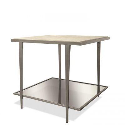 Riverside Wilshire White Sands Rectangular Side Table