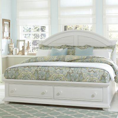 Liberty Furniture Summer House I White King Storage Bed