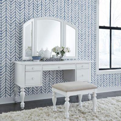 Liberty Furniture Summer House I White Vanity Set