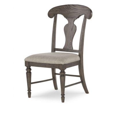 Legacy Classic Brookhaven Rustic Dark Elm  Splat Back Side Chair Set of 2