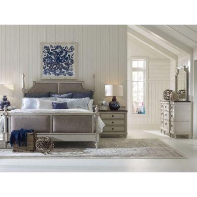 Legacy Classic Brookhaven Vintage Linen Upholstered Bedroom Set